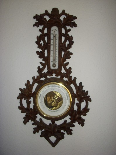 Rarität Altes Aneroid-Barometer