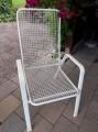 Gartenstühle metall weiss 3 Stück