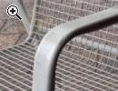 Gartenstühle metall weiss 3 Stück - Vorschaubild 2